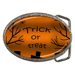 Trick or treat - cemetery  Belt Buckles
