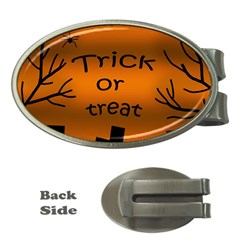 Trick or treat - cemetery  Money Clips (Oval)
