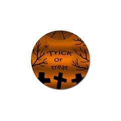 Trick or treat - cemetery  Golf Ball Marker