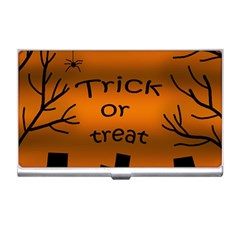 Trick or treat - cemetery  Business Card Holders