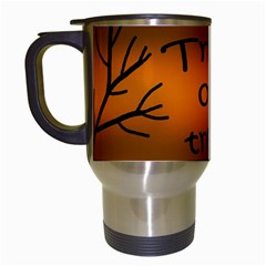 Trick or treat - cemetery  Travel Mugs (White)