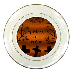 Trick or treat - cemetery  Porcelain Plates