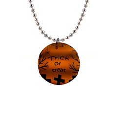 Trick or treat - cemetery  Button Necklaces