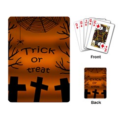 Trick or treat - cemetery  Playing Card