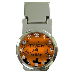 Trick Or Treat   Cemetery  Money Clip Watches