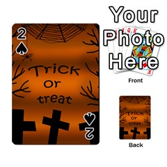 Trick or treat - cemetery  Playing Cards 54 Designs