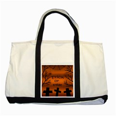Trick or treat - cemetery  Two Tone Tote Bag