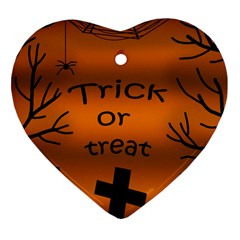 Trick or treat - cemetery  Heart Ornament (2 Sides)