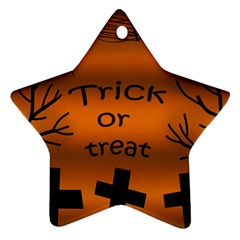 Trick or treat - cemetery  Star Ornament (Two Sides)