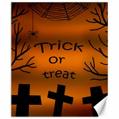 Trick or treat - cemetery  Canvas 8  x 10