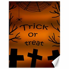 Trick or treat - cemetery  Canvas 12  x 16