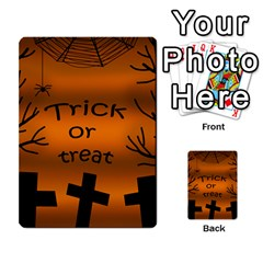 Trick or treat - cemetery  Multi-purpose Cards (Rectangle)
