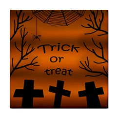 Trick or treat - cemetery  Face Towel