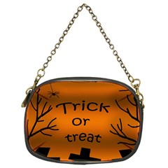 Trick or treat - cemetery  Chain Purses (Two Sides)
