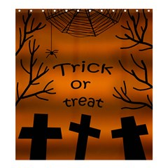 Trick or treat - cemetery  Shower Curtain 66  x 72  (Large)