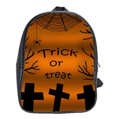 Trick or treat - cemetery  School Bags(Large)