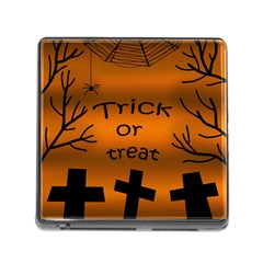 Trick or treat - cemetery  Memory Card Reader (Square)