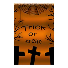 Trick or treat - cemetery  Shower Curtain 48  x 72  (Small)
