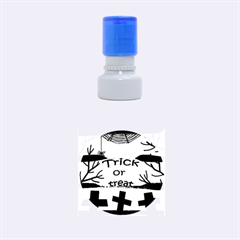 Trick or treat - cemetery  Rubber Round Stamps (Small)