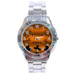 Trick or treat - cemetery  Stainless Steel Analogue Watch