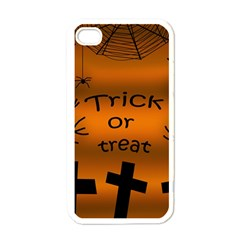 Trick or treat - cemetery  Apple iPhone 4 Case (White)