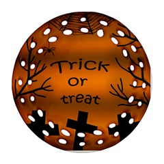 Trick or treat - cemetery  Round Filigree Ornament (2Side)
