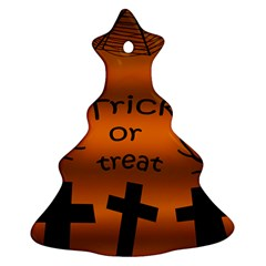Trick or treat - cemetery  Christmas Tree Ornament (2 Sides)