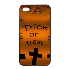 Trick or treat - cemetery  Apple iPhone 4/4s Seamless Case (Black)