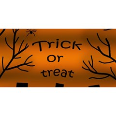 Trick or treat - cemetery  YOU ARE INVITED 3D Greeting Card (8x4)