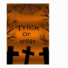 Trick or treat - cemetery  Small Garden Flag (Two Sides)