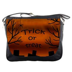 Trick or treat - cemetery  Messenger Bags