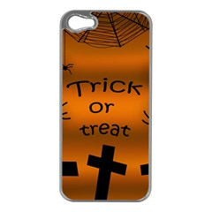 Trick or treat - cemetery  Apple iPhone 5 Case (Silver)
