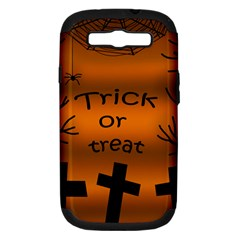 Trick or treat - cemetery  Samsung Galaxy S III Hardshell Case (PC+Silicone)