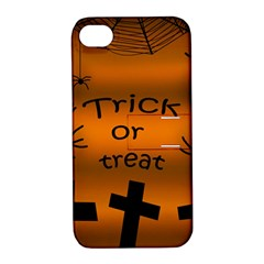 Trick or treat - cemetery  Apple iPhone 4/4S Hardshell Case with Stand