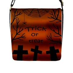 Trick or treat - cemetery  Flap Messenger Bag (L)