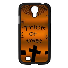 Trick or treat - cemetery  Samsung Galaxy S4 I9500/ I9505 Case (Black)