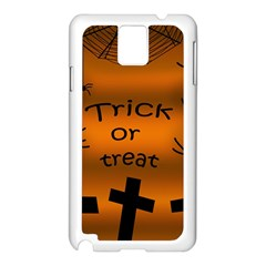 Trick or treat - cemetery  Samsung Galaxy Note 3 N9005 Case (White)