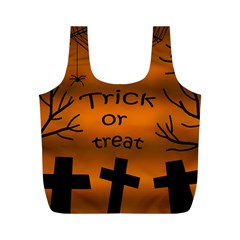 Trick or treat - cemetery  Full Print Recycle Bags (M)