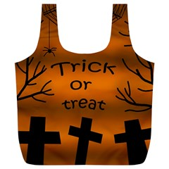 Trick or treat - cemetery  Full Print Recycle Bags (L)