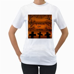 Trick or treat - cemetery  Women s T-Shirt (White)