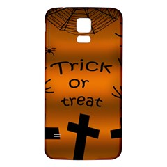 Trick or treat - cemetery  Samsung Galaxy S5 Back Case (White)
