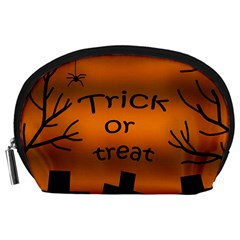 Trick or treat - cemetery  Accessory Pouches (Large)