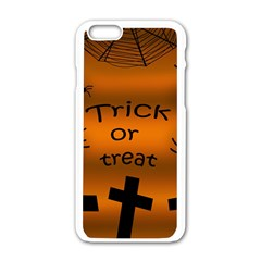 Trick or treat - cemetery  Apple iPhone 6/6S White Enamel Case