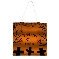 Trick or treat - cemetery  Grocery Light Tote Bag