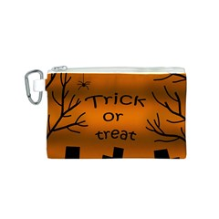 Trick or treat - cemetery  Canvas Cosmetic Bag (S)