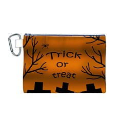 Trick or treat - cemetery  Canvas Cosmetic Bag (M)