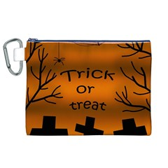 Trick or treat - cemetery  Canvas Cosmetic Bag (XL)