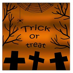 Trick or treat - cemetery  Large Satin Scarf (Square)