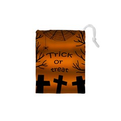 Trick or treat - cemetery  Drawstring Pouches (XS)