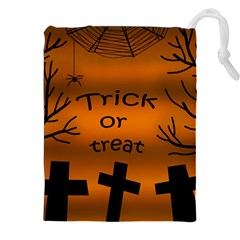 Trick or treat - cemetery  Drawstring Pouches (XXL)